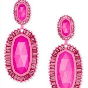 Kendra Scott Kaki Statement Earrings in Pink Agate